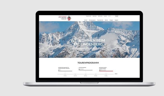 Website SAC Sektion Lindenberg