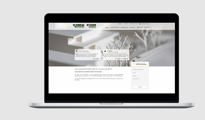 Website W.Kuhn Bauunternehmung AG