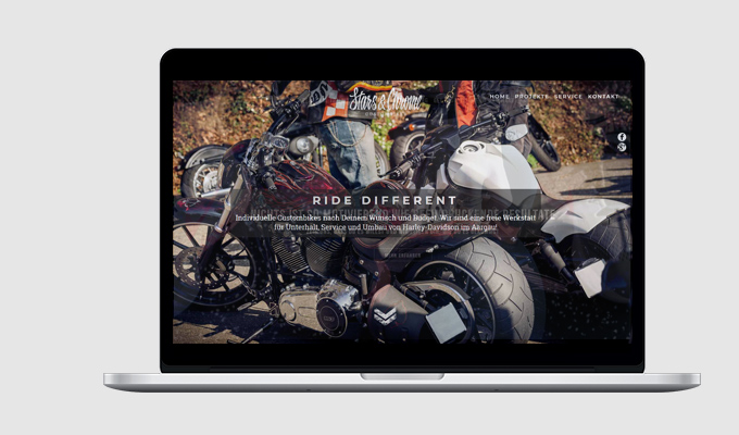 Website Stars & Chrome Custombikes