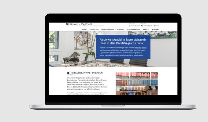 Website Stephani + Partner